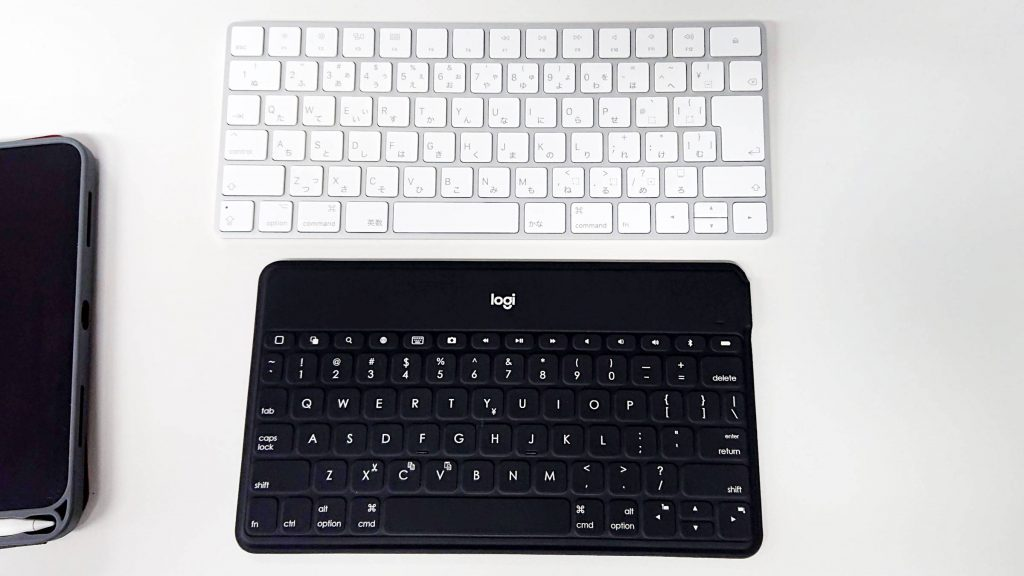 Apple Magic Keyboardとlogicool KEYS-TO-GOの比較